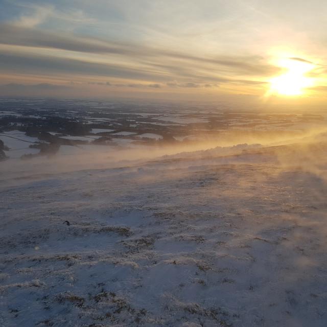"""Sunrise Pentland Hills, Scotland"" stock image"