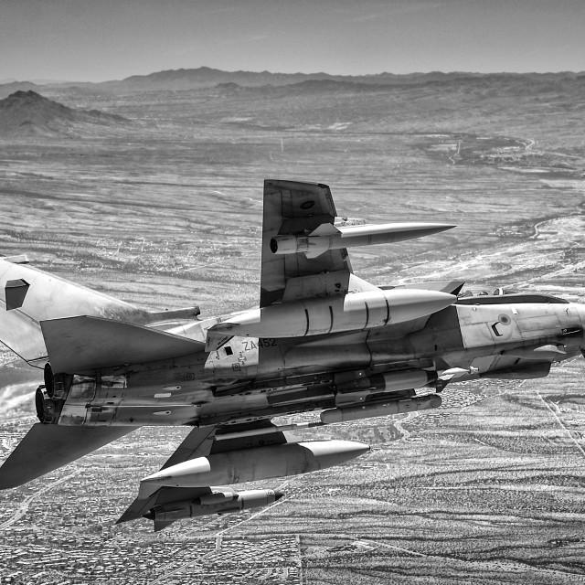"""RAF Tornado GR4 Armed - Airborne"" stock image"
