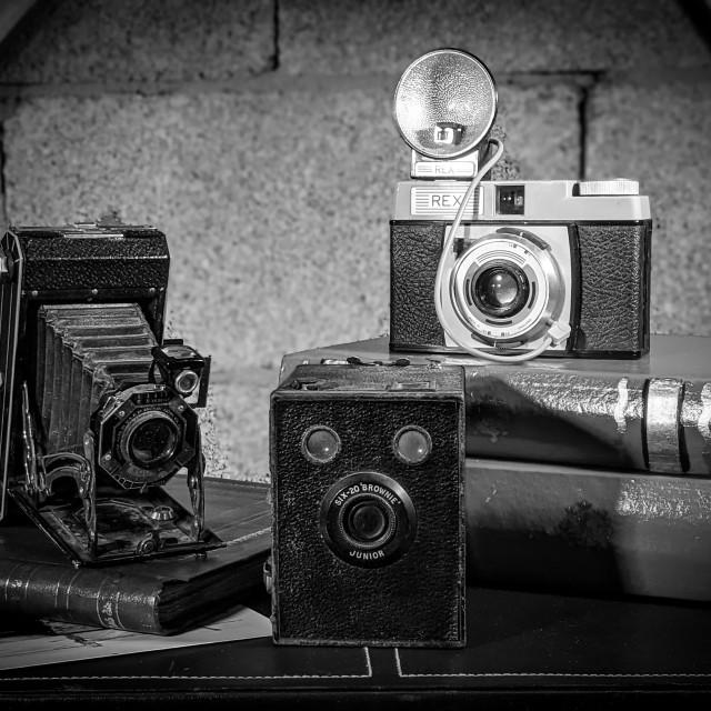 """Vintage cameras"" stock image"