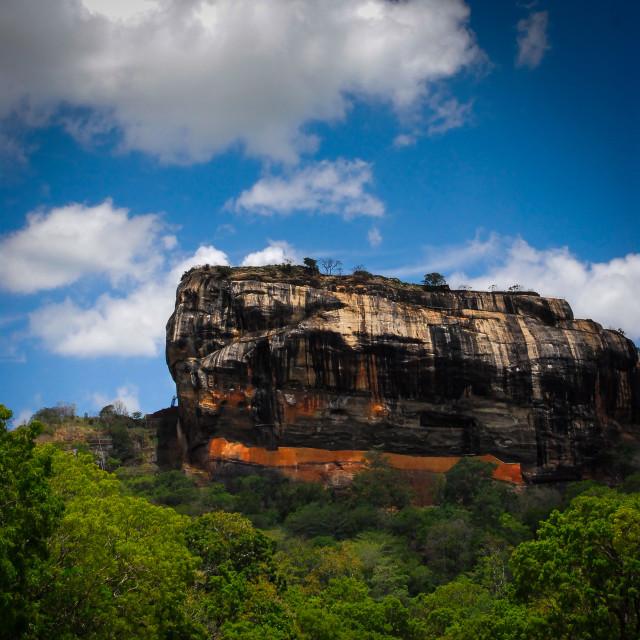 """Sigiriya or Sinhagiri (Lion Rock Sinhala)"" stock image"