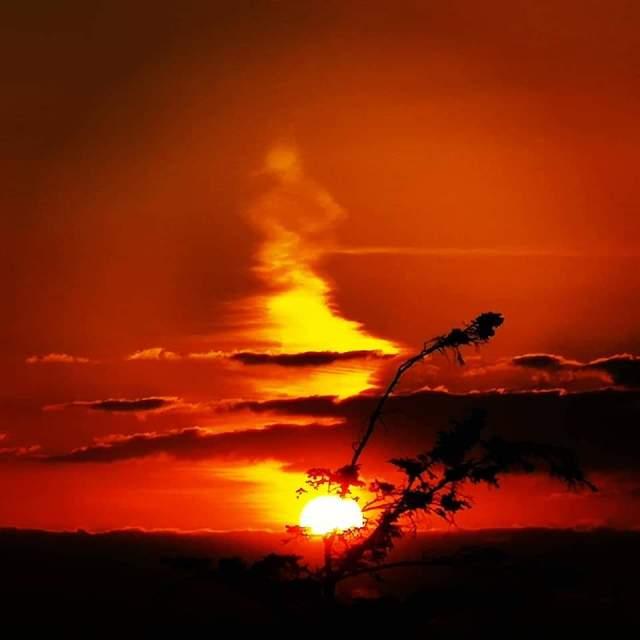 """Renvyle sunset!"" stock image"