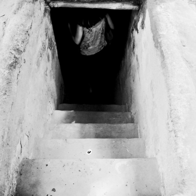 """""""The tunnels of Củ Chi"""" stock image"""