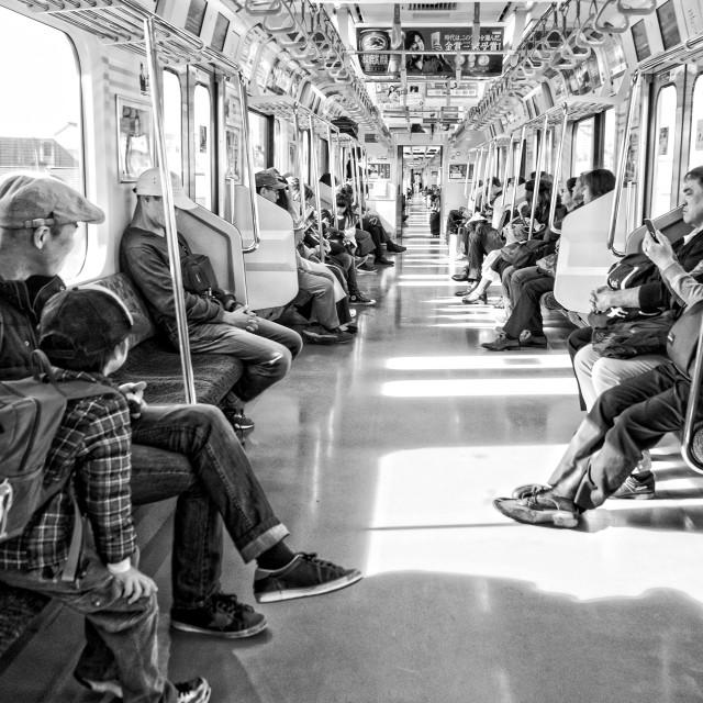 """""""Subway car, Tokyo"""" stock image"""
