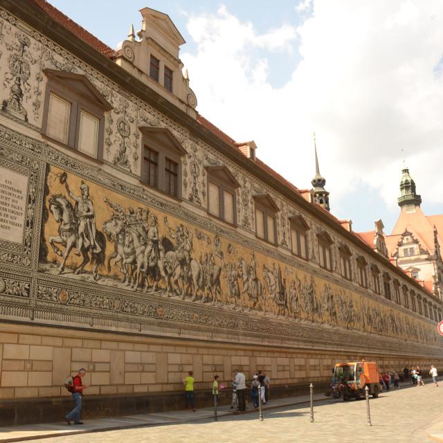 """The Fürstenzug in Dresden, Germany"" stock image"