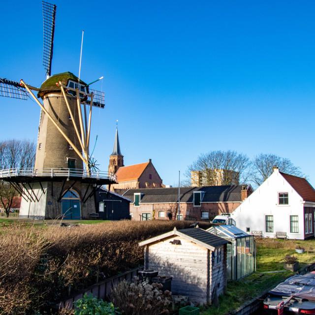 """""""Windmill Korenaer Loosduinen"""" stock image"""
