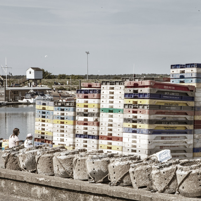 """The harbour at Wells Norfolk"" stock image"