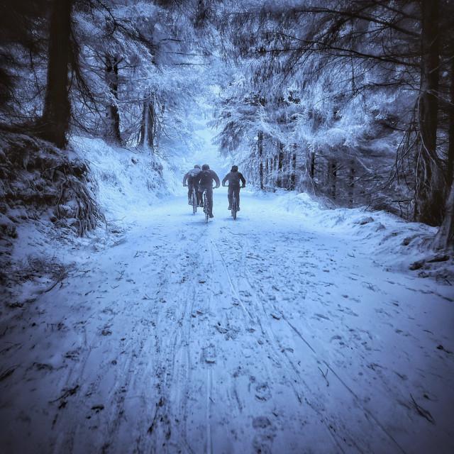 """""""Snow & Bikes"""" stock image"""