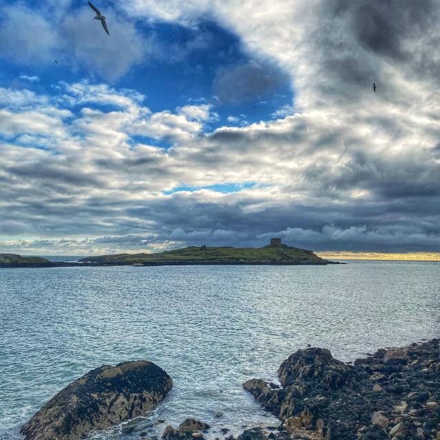 """A Glimpse of Dalkey Island"" stock image"