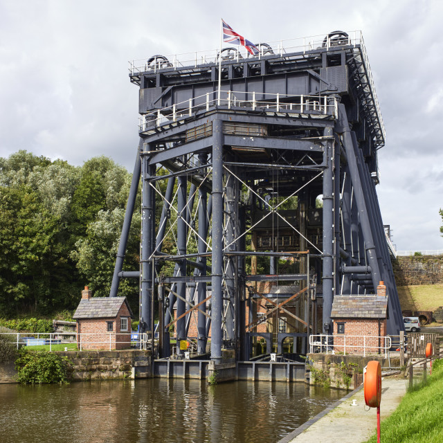 """""""The Anderton boat lift"""" stock image"""
