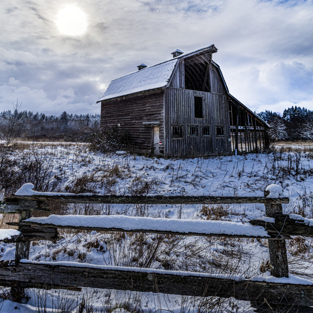 """Winter Scene On Vancouver Island"" stock image"