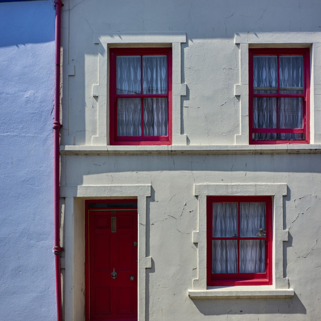 """""""Traditional Manx style house"""" stock image"""