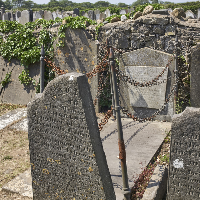 """""""The Vampire grave at Malew Church"""" stock image"""