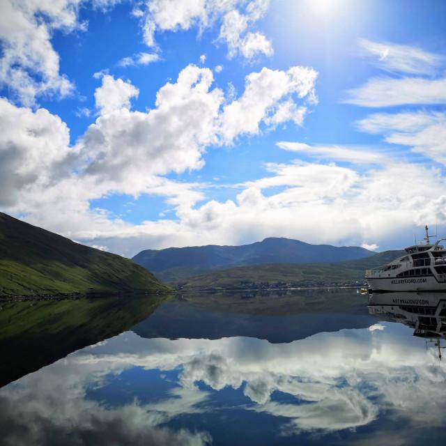 """""""Killary fjord boat!"""" stock image"""