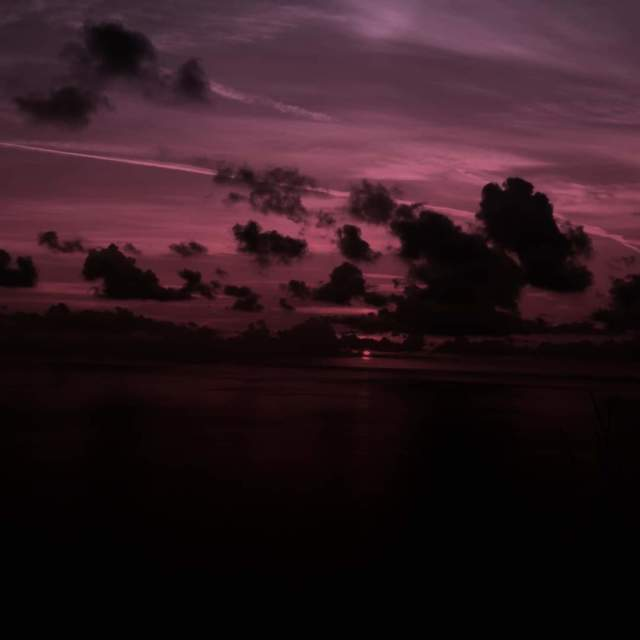 """Pink sunset."" stock image"