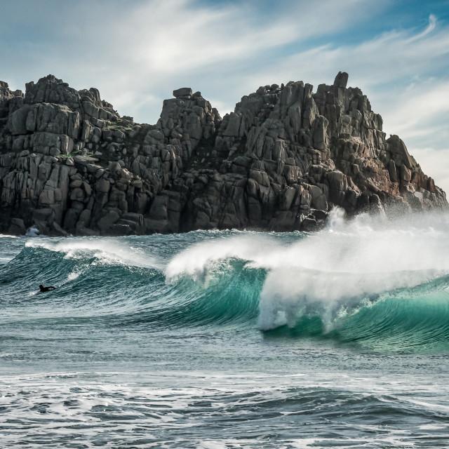 """""""Autumn Surf"""" stock image"""
