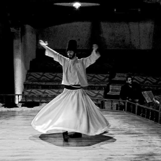 """""""Sufi whirling"""" stock image"""