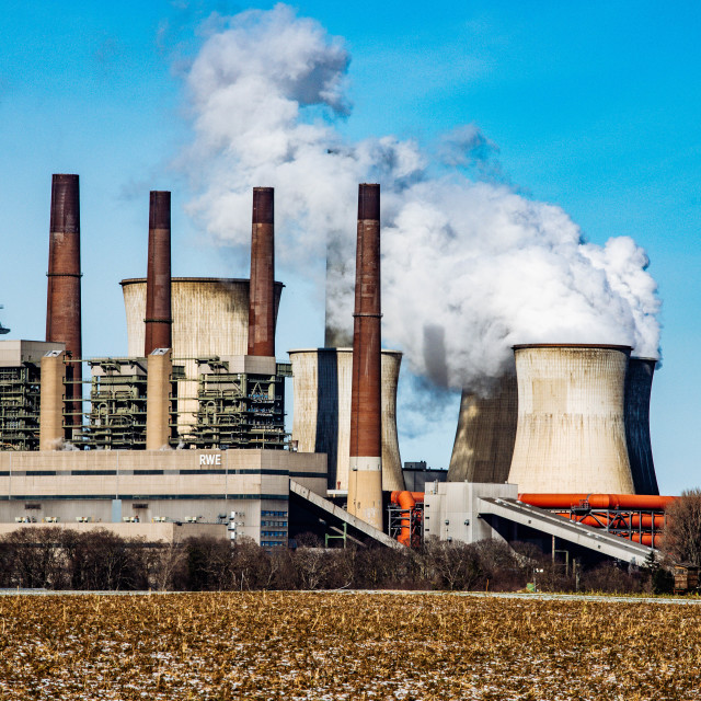 """Coal Power Plant RWE Braunkohlekraftwerk Neurath"" stock image"