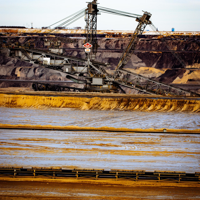 """Coal Power Open Pit Mining Garzweiler"" stock image"