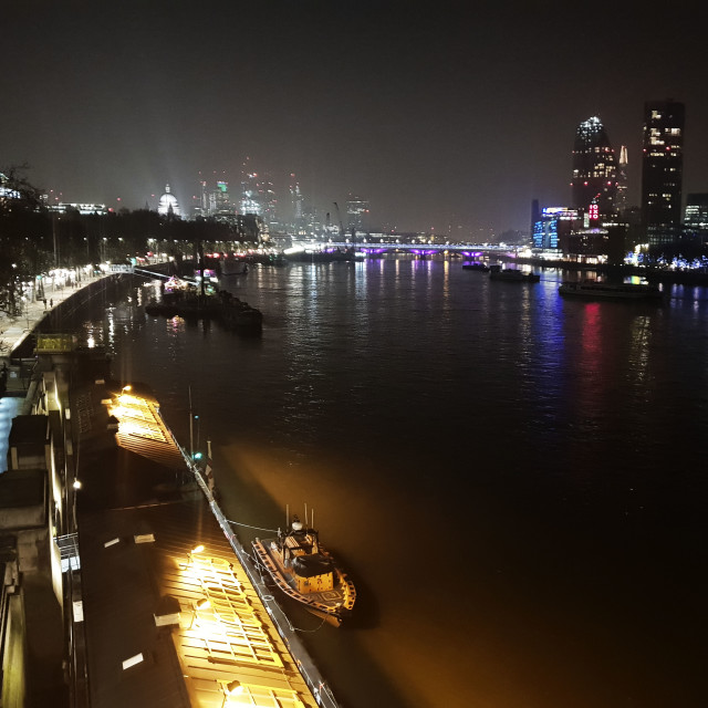 """River Thames London"" stock image"