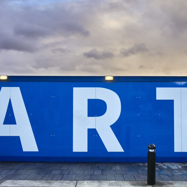 """""""Street hoarding with the word Art in big letters"""" stock image"""