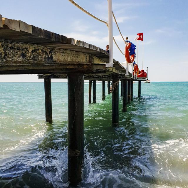 """Pier at Antalya, Turkey"" stock image"