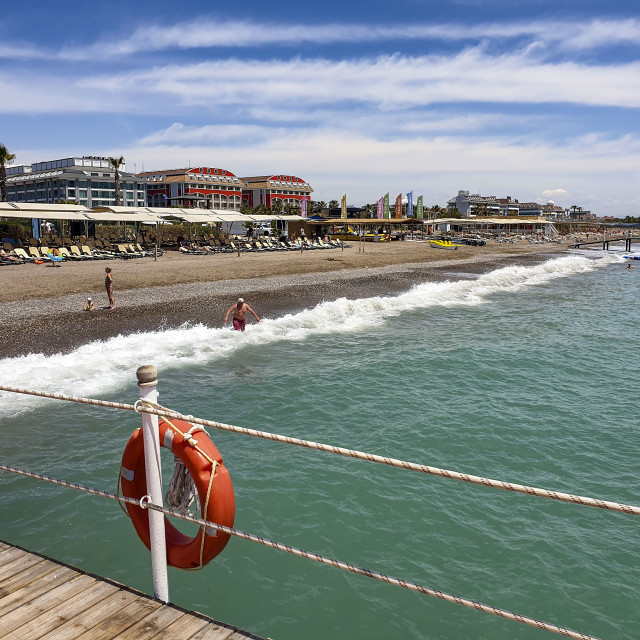 """Hotels along the beach at Antalya, Turkey"" stock image"