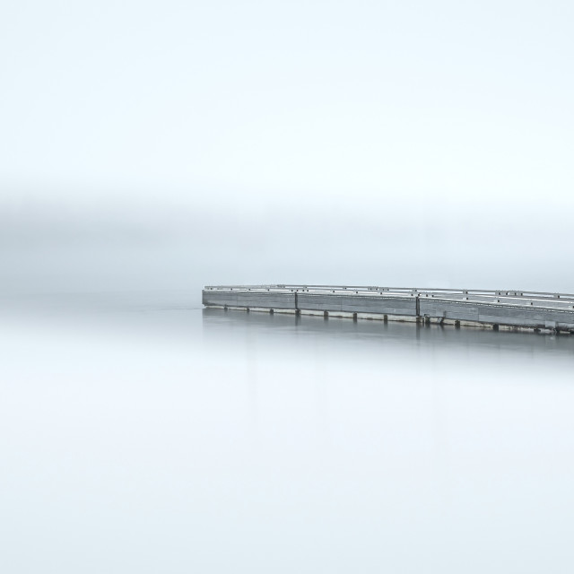 """Foggy dock"" stock image"