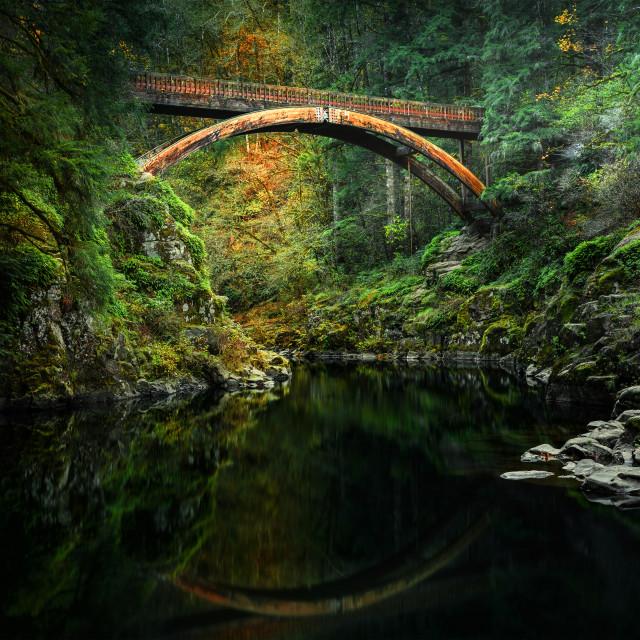 """Evening bridge"" stock image"