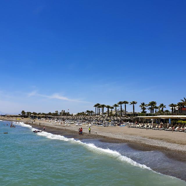 """Antalya beach, Turkey"" stock image"