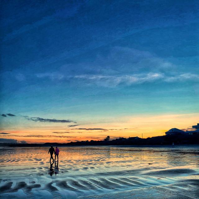 """Sunset Strolls"" stock image"