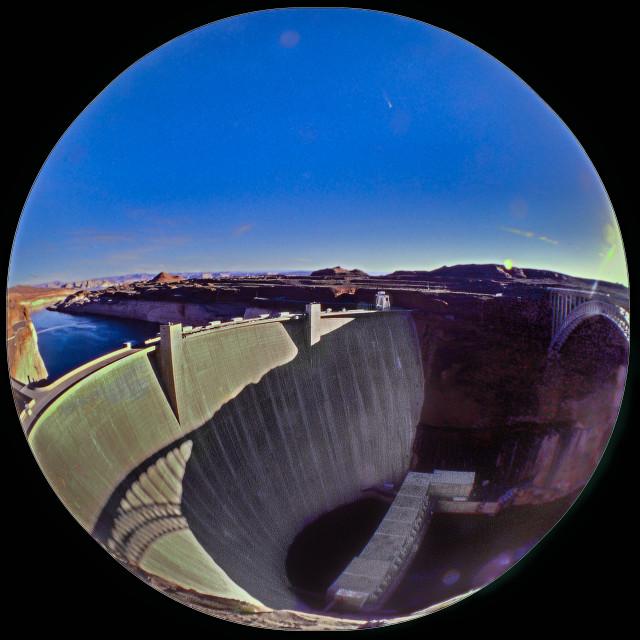 """Hoover Dam Fisheye"" stock image"