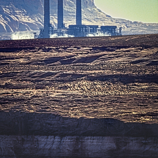 """Navajo Generating Station & Lake Powell"" stock image"
