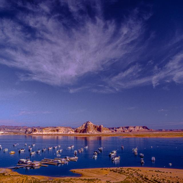 """""""Lake Powell & Wahweap Marina"""" stock image"""