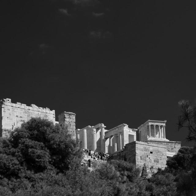 """""""The Parthenon on the Acropolis in Athens, Greece"""" stock image"""