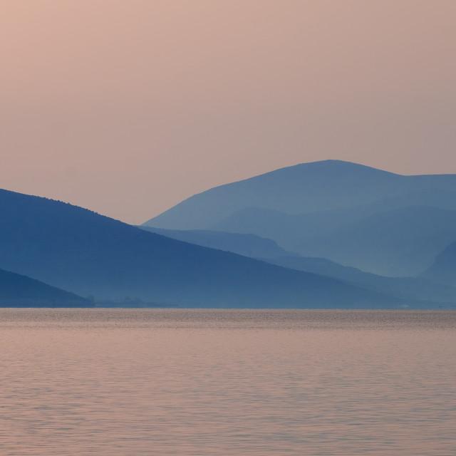 """Peloponnese mountain range in Greece"" stock image"