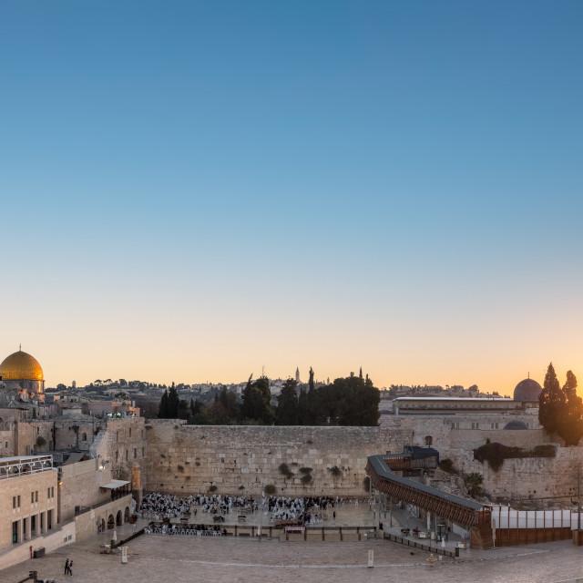 """The Western Wall in Jerusalem, Israel"" stock image"