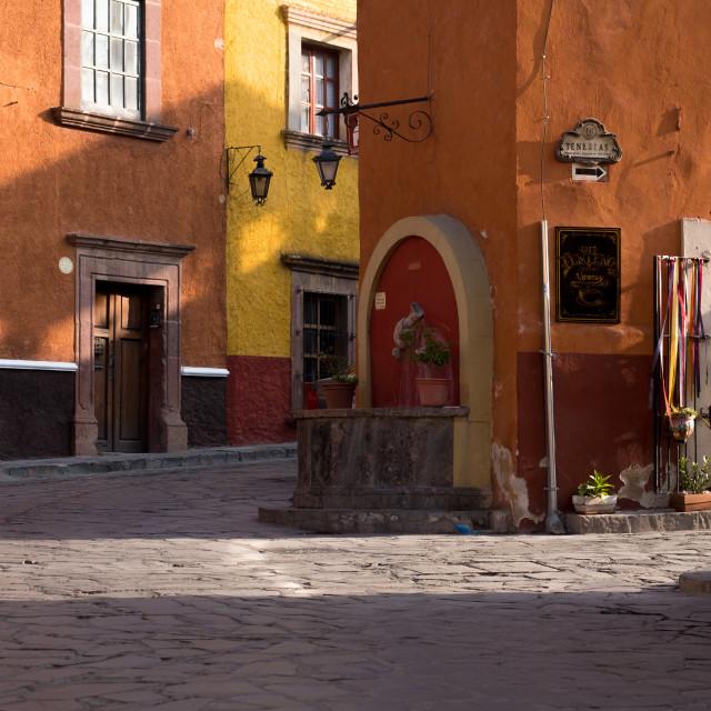 """Street scene in San Miguel de Allende, Mexico"" stock image"