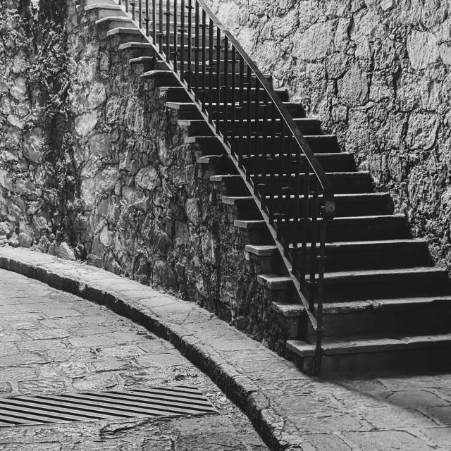 """Underground Stairway in Guanajuato, Mexico"" stock image"
