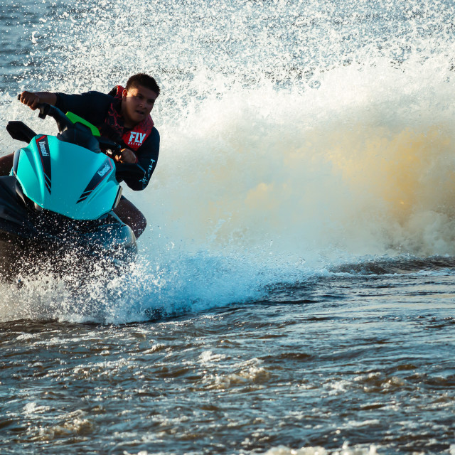 """jET sKIING AT SKI BEACH VENETIAN GARDENS"" stock image"