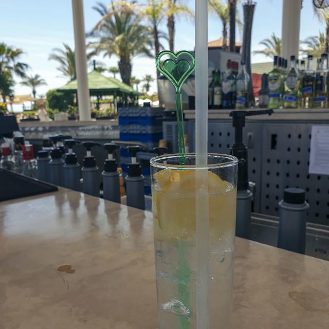 """Hotel bar in Antalya, Turkey"" stock image"