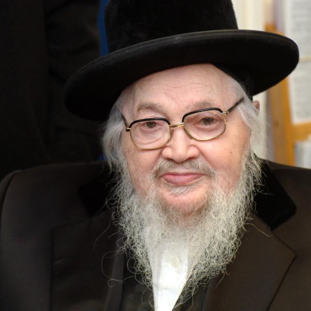 """Rabbi Menachem Mendel Schneebalg"" stock image"