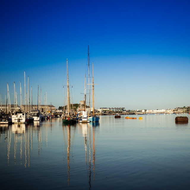 """""""Plymouth Harbour"""" stock image"""