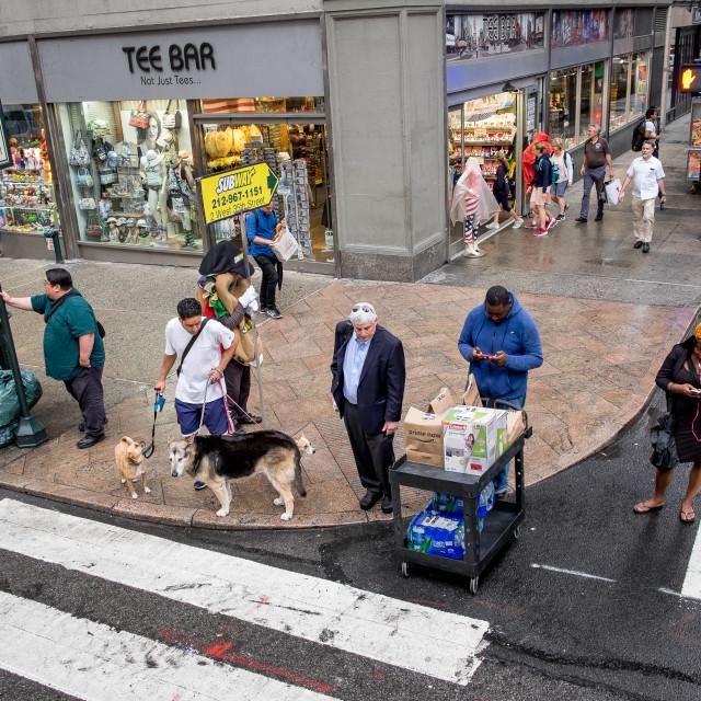 """Street Scene, Manhattan, New York."" stock image"