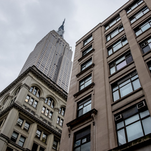 """""""Empire State building, New York."""" stock image"""