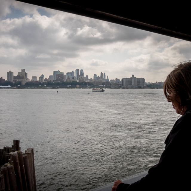 """""""The View from The Staten Island Ferry, New York"""" stock image"""