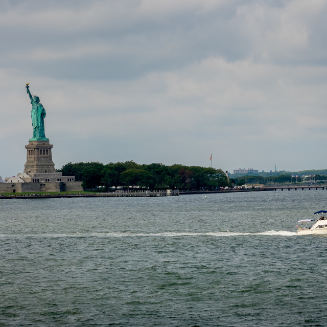 """""""The Statue of Liberty."""" stock image"""