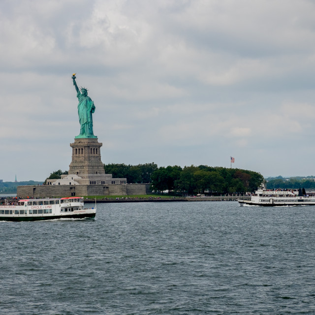 """""""The Stature of Liberty."""" stock image"""