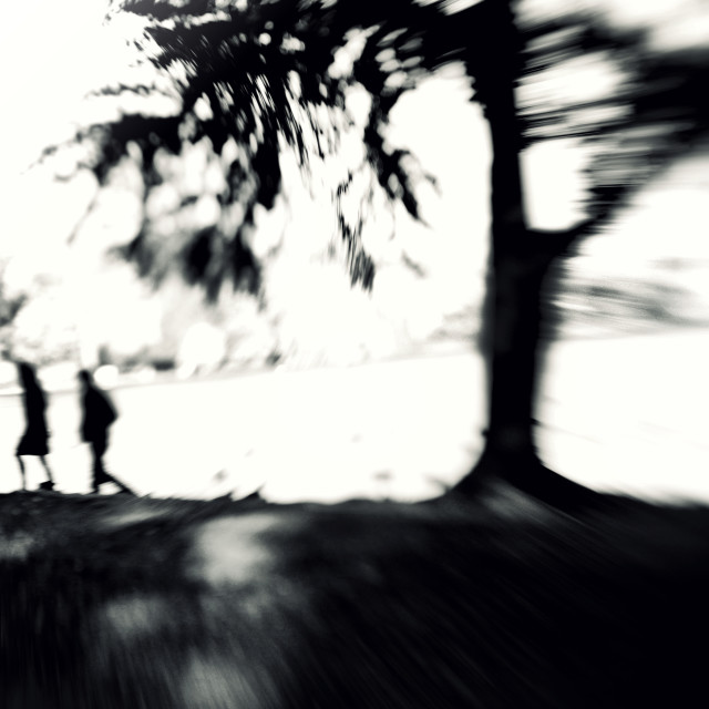 """""""Couple Walking in New York City"""" stock image"""