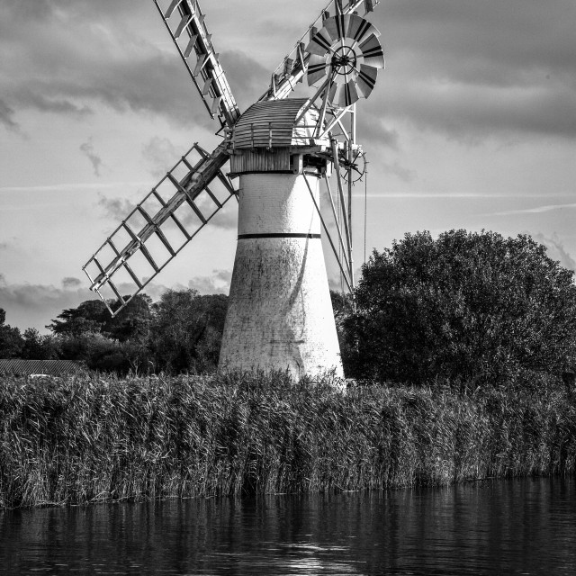 """""""Thurne Mill"""" stock image"""