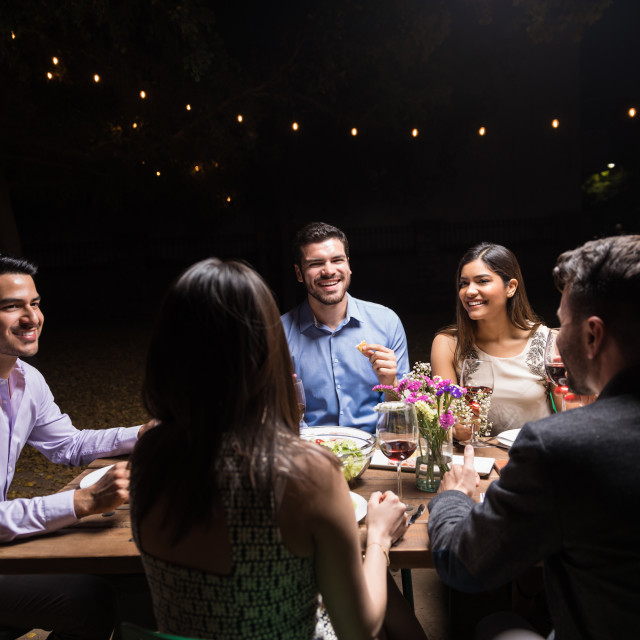 """""""Great Food And Great Friends"""" stock image"""